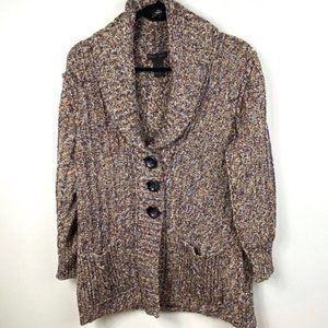 Nomadic Traders Brown ButtonUp Cardigan Size Large